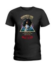 NOVEMBER GIRL - NOVEMBER BIRTHDAY - BORN IN NOVEMB Ladies T-Shirt front