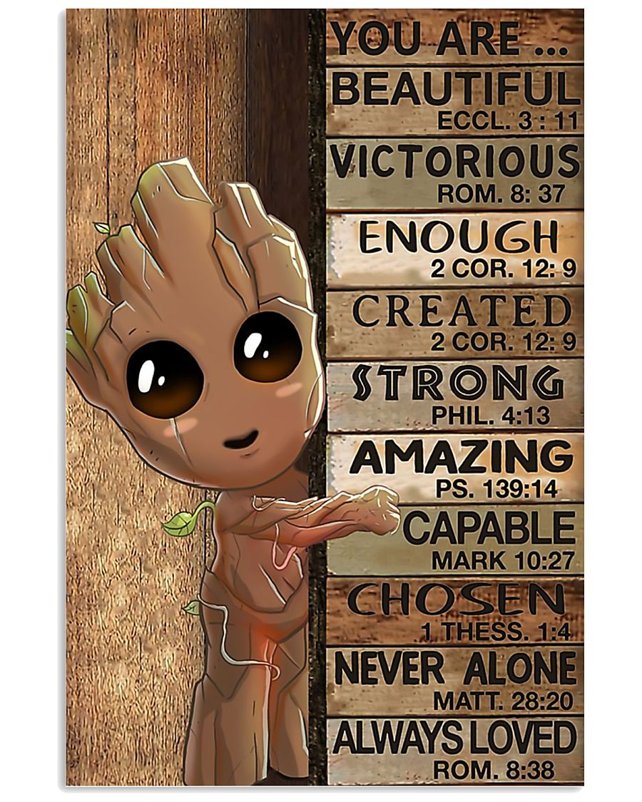 Poster Baby groot You are beautiful victorious 11x17 Poster