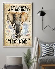 POSTER Elephant I'm brave I'm Bruised I'm who I'm  11x17 Poster lifestyle-poster-1