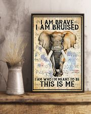 POSTER Elephant I'm brave I'm Bruised I'm who I'm  11x17 Poster lifestyle-poster-3