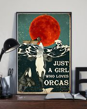 POSTER Just a girl who love Orcas poster 11x17 Poster lifestyle-poster-2
