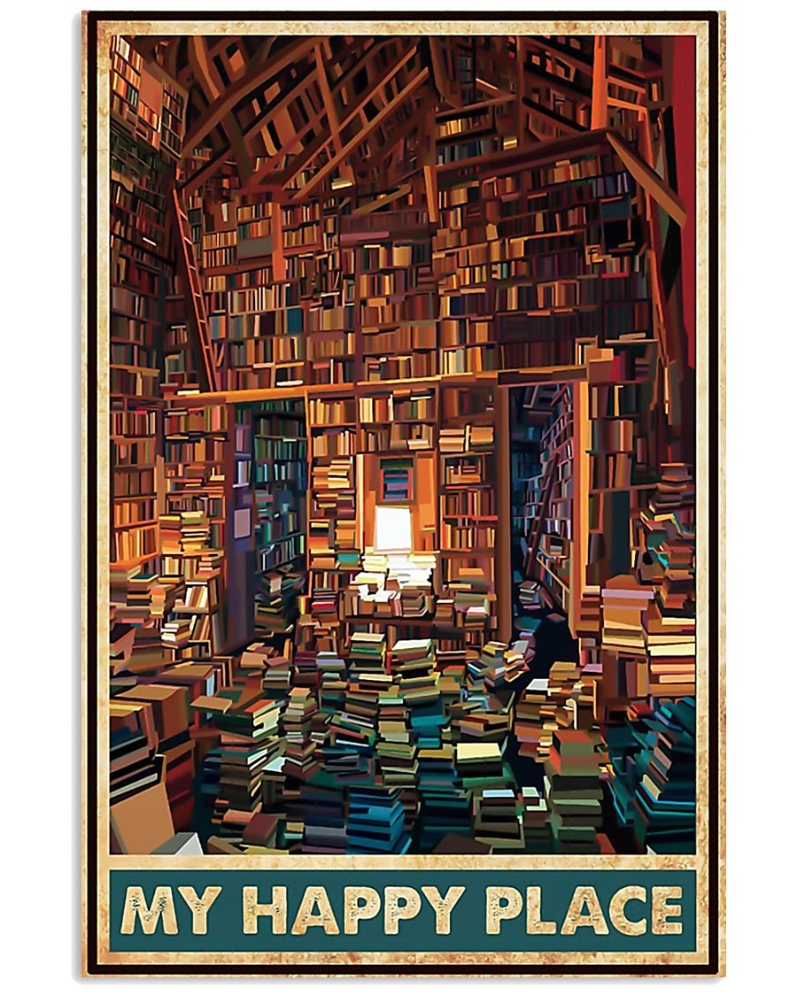 Library my happy place poster 11x17 Poster