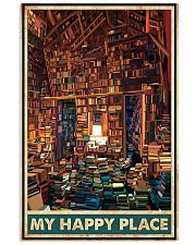Library my happy place poster 11x17 Poster front