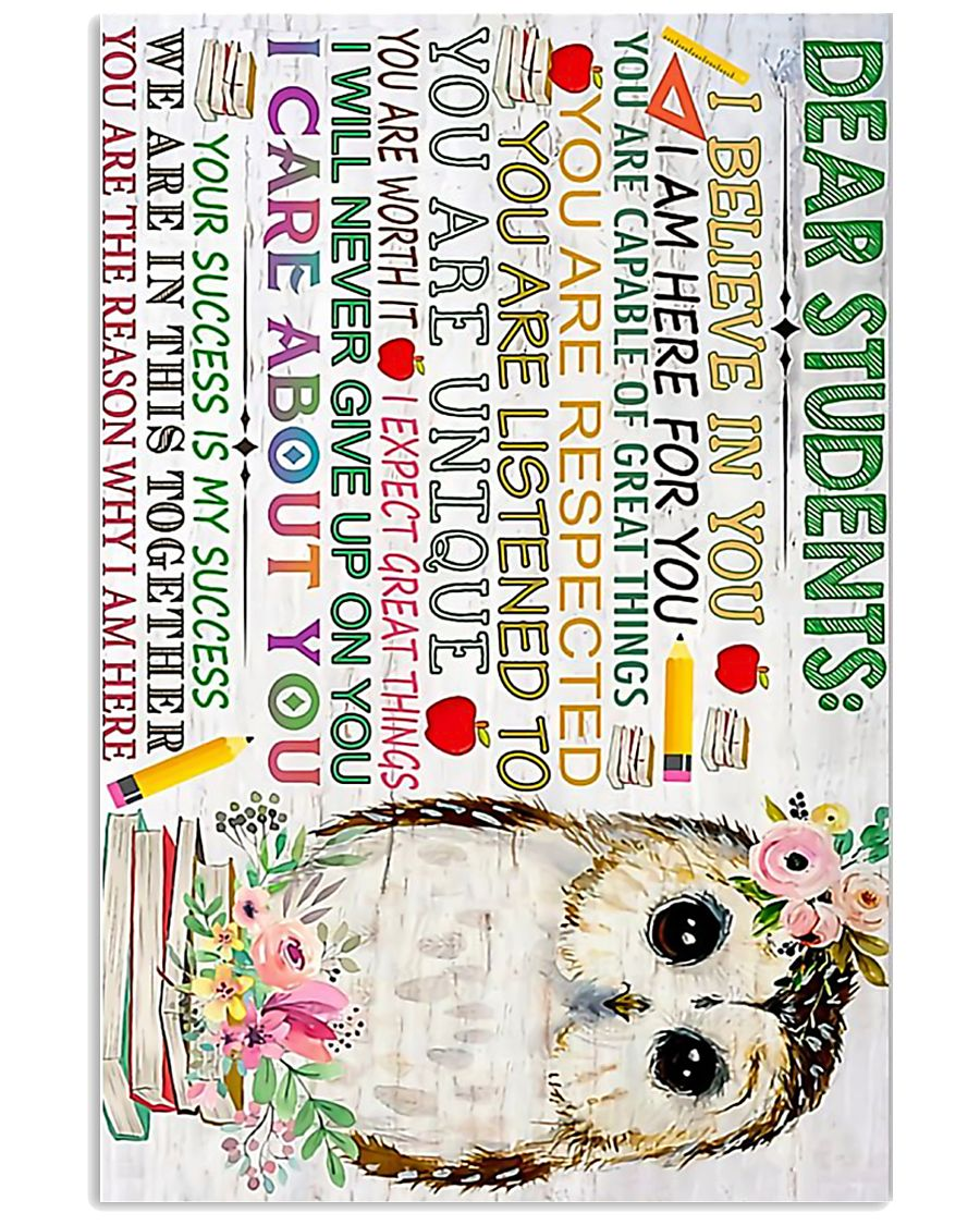 Poster Owl Dear students 11x17 Poster