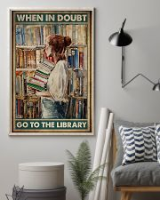 When in doubt go to the library poster 11x17 Poster lifestyle-poster-1