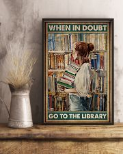 When in doubt go to the library poster 11x17 Poster lifestyle-poster-3