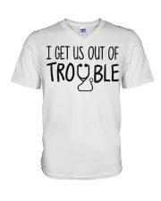 i get us out of trouble V-Neck T-Shirt thumbnail