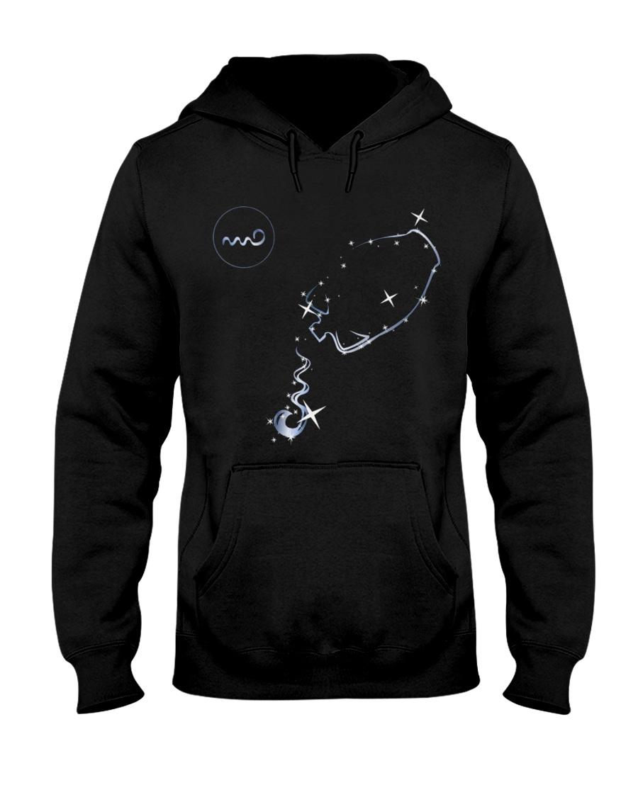 Aquarius Zodiac Sign Hooded Sweatshirt