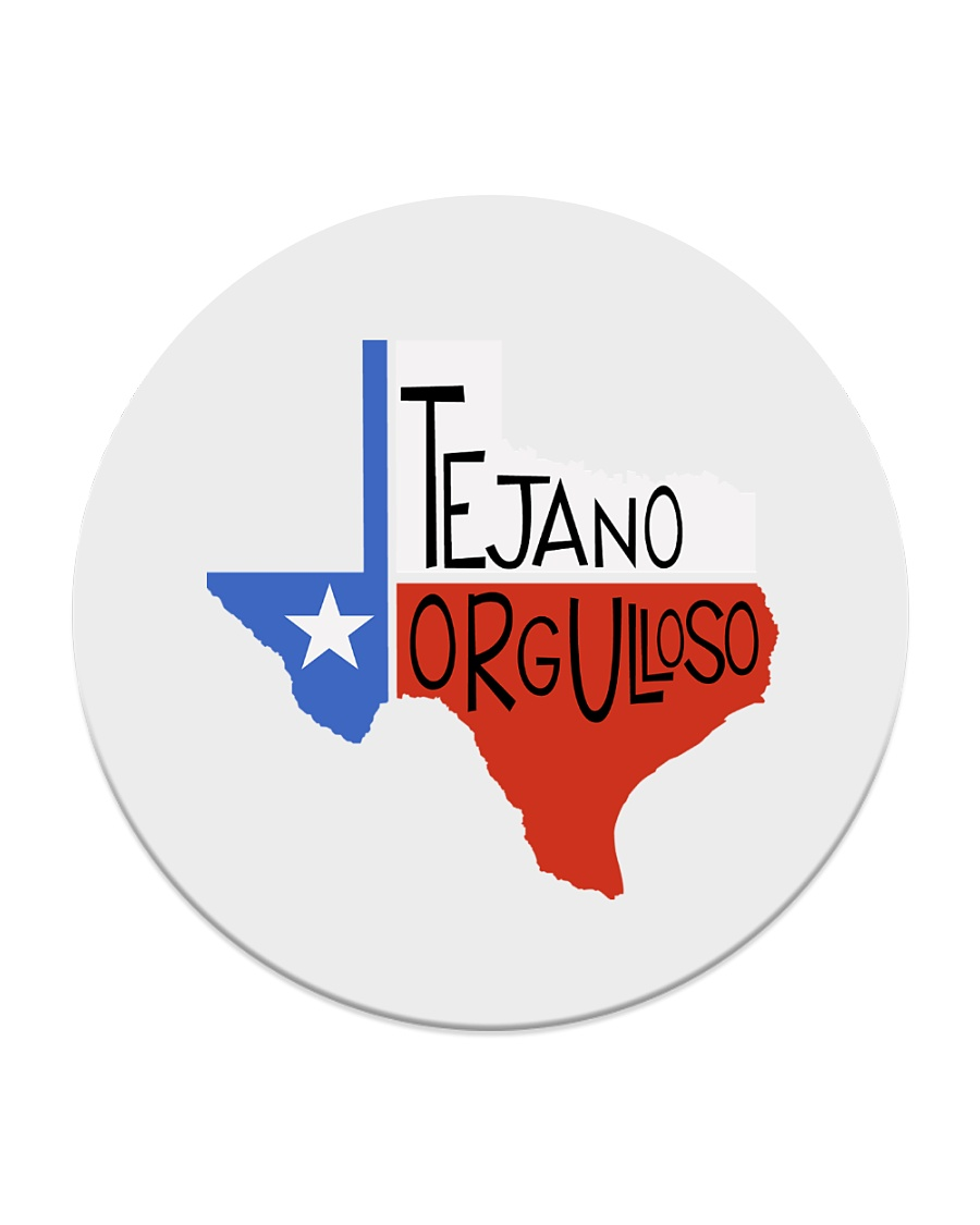 Tejano Orgulloso Latin Pride Collection Circle Coaster