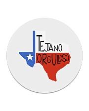 Tejano Orgulloso Latin Pride Collection Circle Coaster front