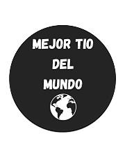 Mejor Tío del Mundo Spanish Collection Circle Coaster front