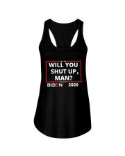 Will You Shut Up Man Ladies Flowy Tank thumbnail