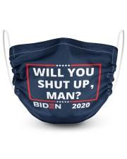 Will You Shut Up Man 2 Layer Face Mask - Single thumbnail