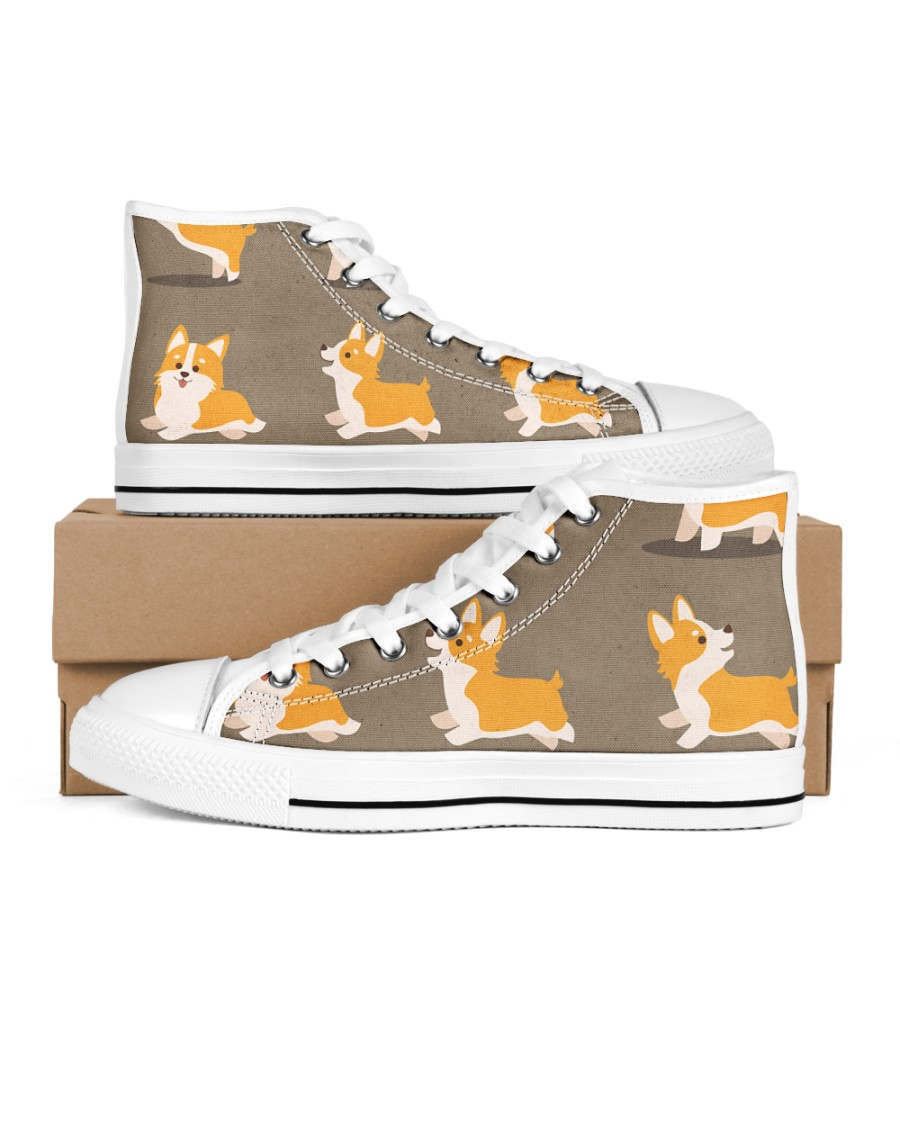 CORGI LIMITED EDITION Women's High Top White Shoes