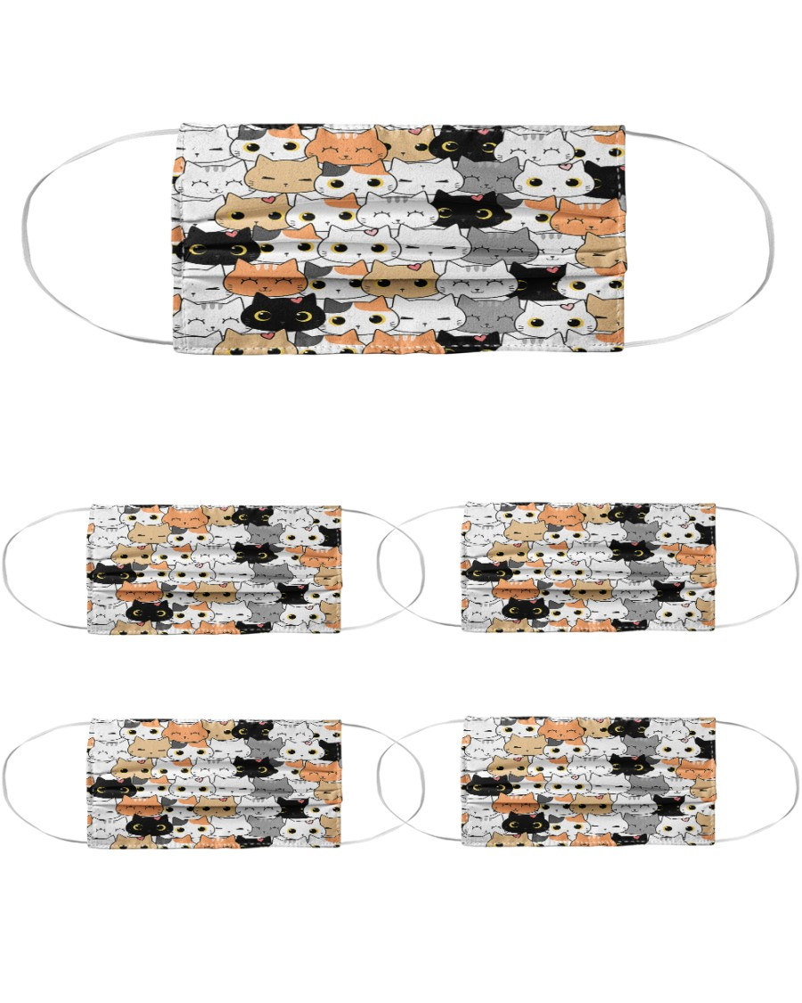 Lovely Cats Cloth Face Mask - 5 Pack