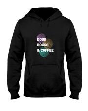 DOGS BOOKS AND COFFEE Hooded Sweatshirt thumbnail