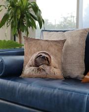 Sloth 3D Square Pillowcase aos-pillow-square-front-lifestyle-02