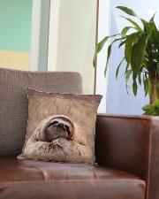 Sloth 3D Square Pillowcase aos-pillow-square-front-lifestyle-03