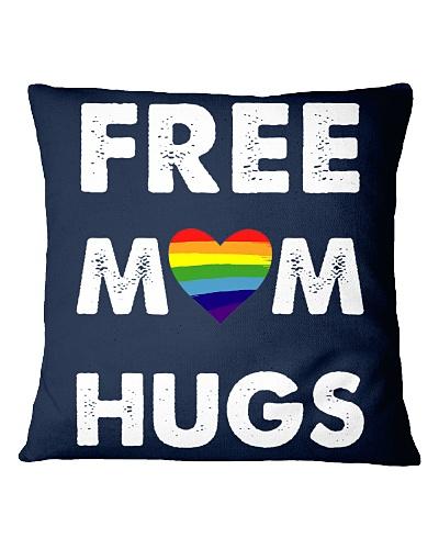 LGBT Mom Rainbow Heart Flag Hugs