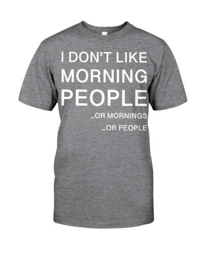 I don't like morning people - AL