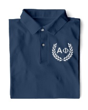 Embroidered Laurel Alpha Phi Classic Polo front