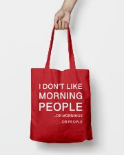 I don't like morning people - AS Tote Bag lifestyle-totebag-front-2