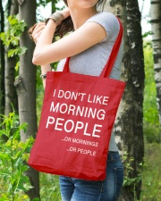 I don't like morning people - AS Tote Bag lifestyle-totebag-front-4