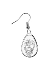 Cats skull - JY Teardrop Earrings thumbnail