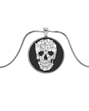 Cats skull - JY Metallic Circle Necklace thumbnail