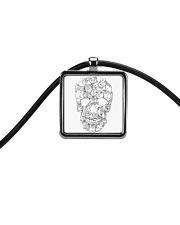 Cats skull - JY Cord Rectangle Necklace thumbnail