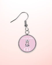 Feeling down Hug a cat - JY Circle Earrings aos-earring-circle-front-lifestyle-2