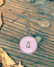 Feeling down Hug a cat - JY Circle Earrings aos-earring-circle-front-lifestyle-4