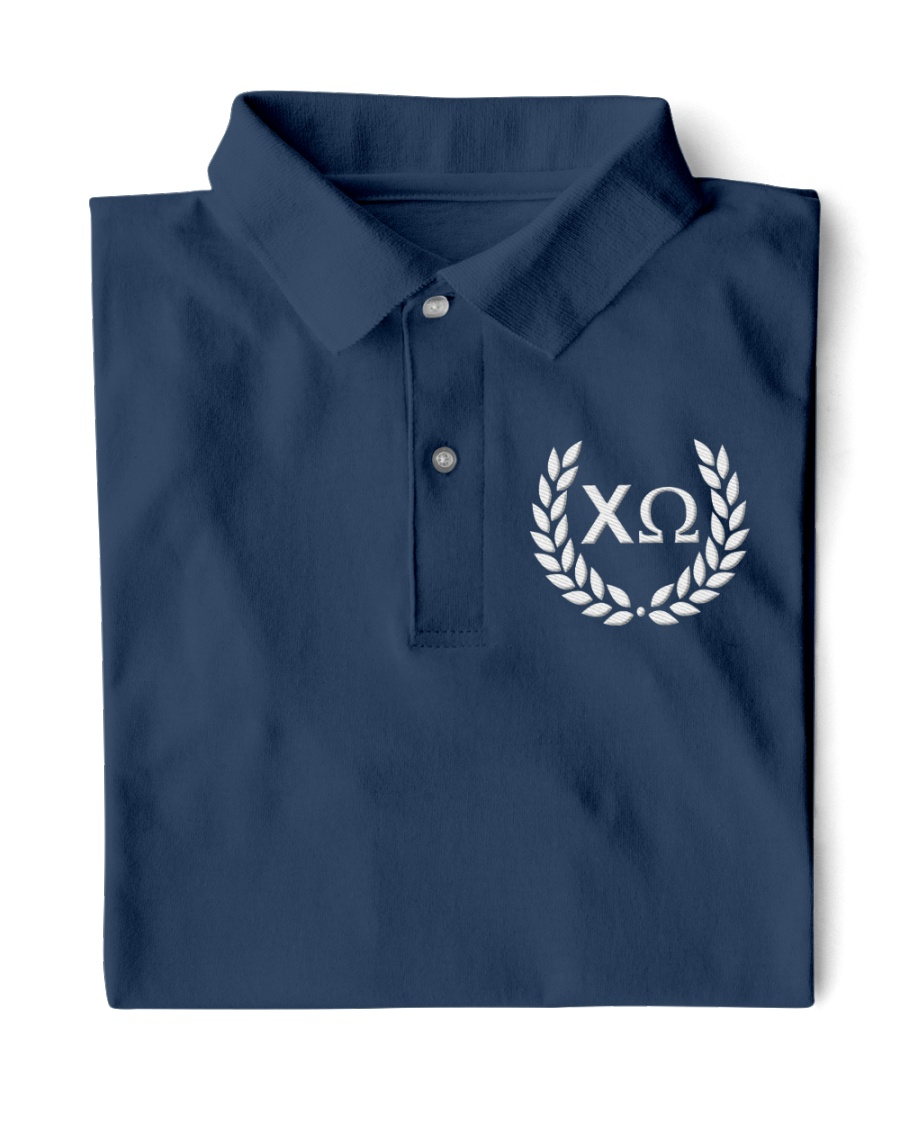 Embroidered Laurel Chi Omega Classic Polo