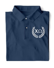 Embroidered Laurel Chi Omega Classic Polo front