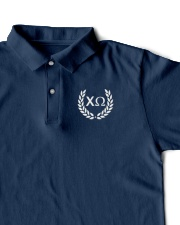 Embroidered Laurel Chi Omega Classic Polo garment-embroidery-classicpolo-lifestyle-07