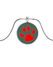 Dog print - JY Metallic Circle Necklace front