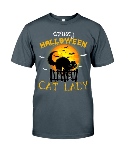 Crazy halloween cat lady - AL