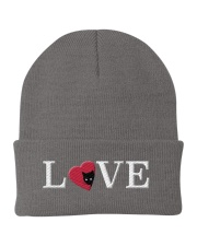 Embroidered Love Cat Heart Knit Beanie thumbnail