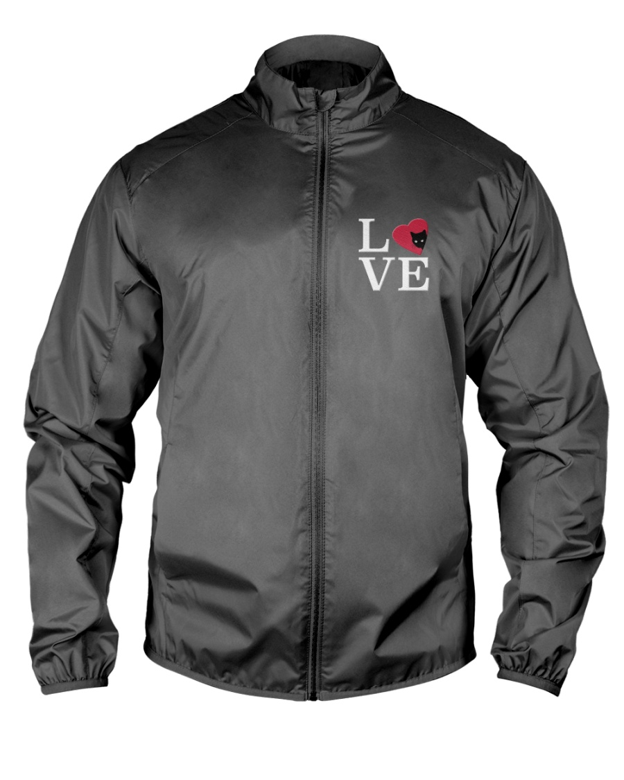 Embroidered Love Cat Heart Lightweight Jacket