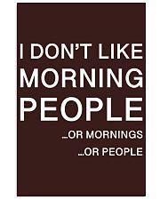 I don't like morning people - HL 11x17 Poster thumbnail