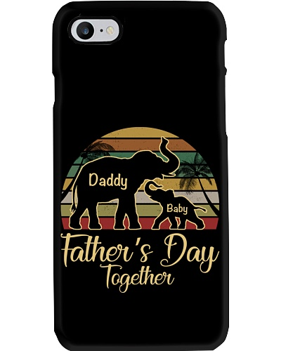 Daddy And Baby Elephant - Father's Day Together