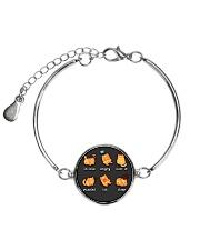 Cat emoji - JY Metallic Circle Bracelet thumbnail