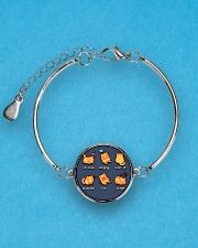 Cat emoji - JY Metallic Circle Bracelet aos-bracelet-metal-front-lifestyle-3