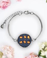 Cat emoji - JY Metallic Circle Bracelet aos-bracelet-metal-front-lifestyle-6