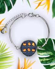 Cat emoji - JY Metallic Circle Bracelet aos-bracelet-metal-front-lifestyle-7