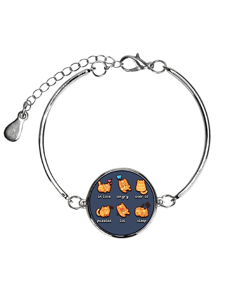 Cat emoji - JY Metallic Circle Bracelet