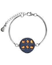 Cat emoji - JY Metallic Circle Bracelet front