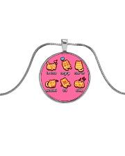 Cat emoji - JY Metallic Circle Necklace thumbnail