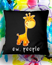Giraffe ew people - HL Square Pillowcase aos-pillow-square-front-lifestyle-17