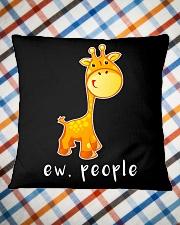 Giraffe ew people - HL Square Pillowcase aos-pillow-square-front-lifestyle-26